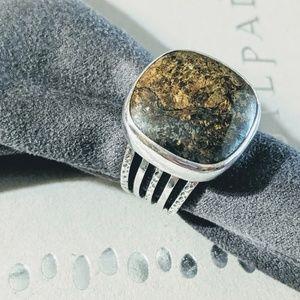 Silpada Sterling & Bronzite Ring. Size 8. Retired